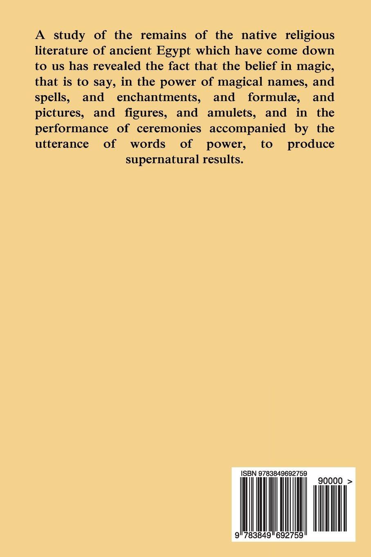 Egyptian Magic Ea Wallis Budge 9783849692759 Amazon Books