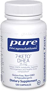 Pure Encapsulations - 7-Keto DHEA 25 mg - Unique DHEA Metabolite to Support Thermogenesis and Healthy Body Composition - 120 Capsules