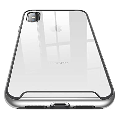 detailed look 218af 97be8 RANVOO for iPhone XS Max Case, Ultra Hybrid Clear Hard iPhone XS Max  Protective Case TPU Silicone Chrome Frame + Transparent Back Panel  Shockproof ...