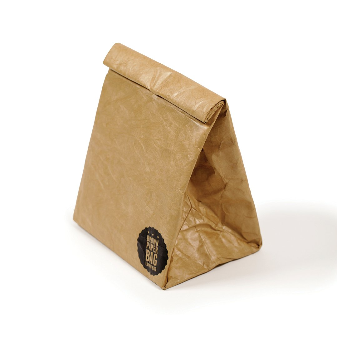 Luckies of London Brown Paper Lunch Bag (USLUKBRW)