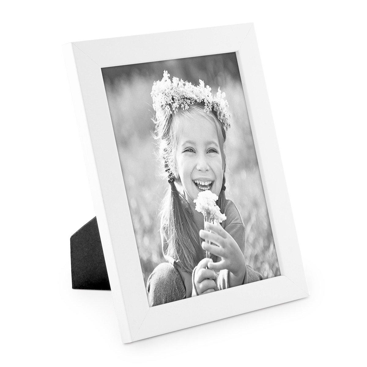 Amazon.de: Photolini Bilderrahmen 18x24 cm Weiss Modern aus MDF mit ...