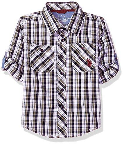 U.S. Polo Assn. Boys Long Sleeve Plaid Shirt
