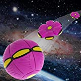 #7: Arich Magic Saucer Inflection Ball Flying UFO Flat Throw Disc Ball With LED Light Toy Kid Outdoor Garden Beach Game Toys Hot Pink-for kids Christmas Toy