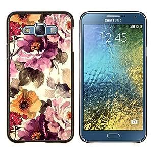 Vintage Vignette Sol- Metal de aluminio y de plástico duro Caja del teléfono - Negro - Samsung Galaxy E7 / SM-E700