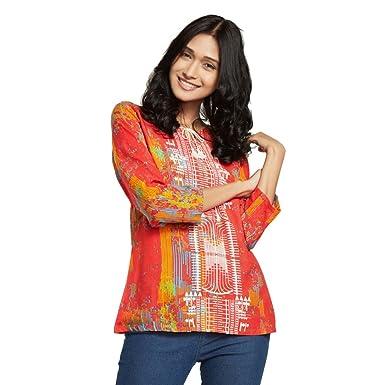 Global Desi Womens Body Blouse Shirt Aw17gp163tpryredm