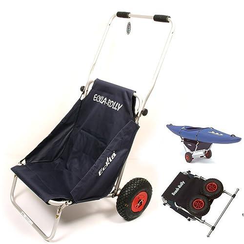Ascan Eckla Beach ROLLY, Surf carrito Transport opongo asiento para kayak porta canoas Angel carrito: Amazon.es: Deportes y aire libre