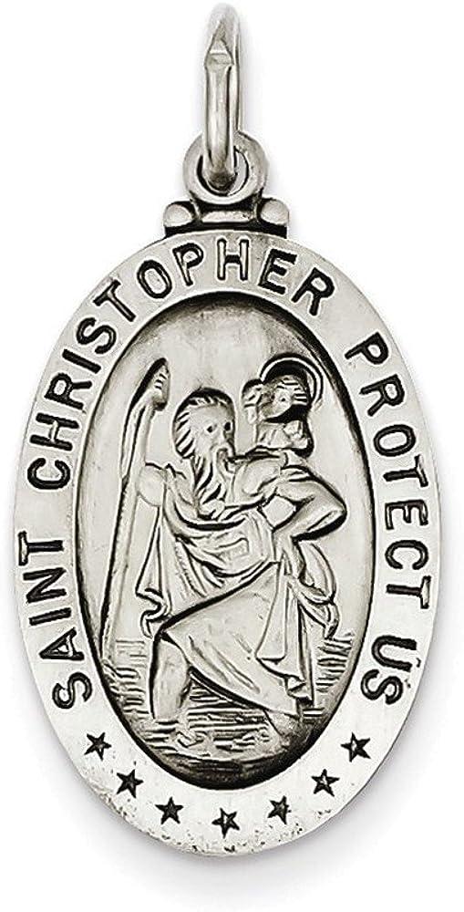 Christopher Medal Sterling Silver St