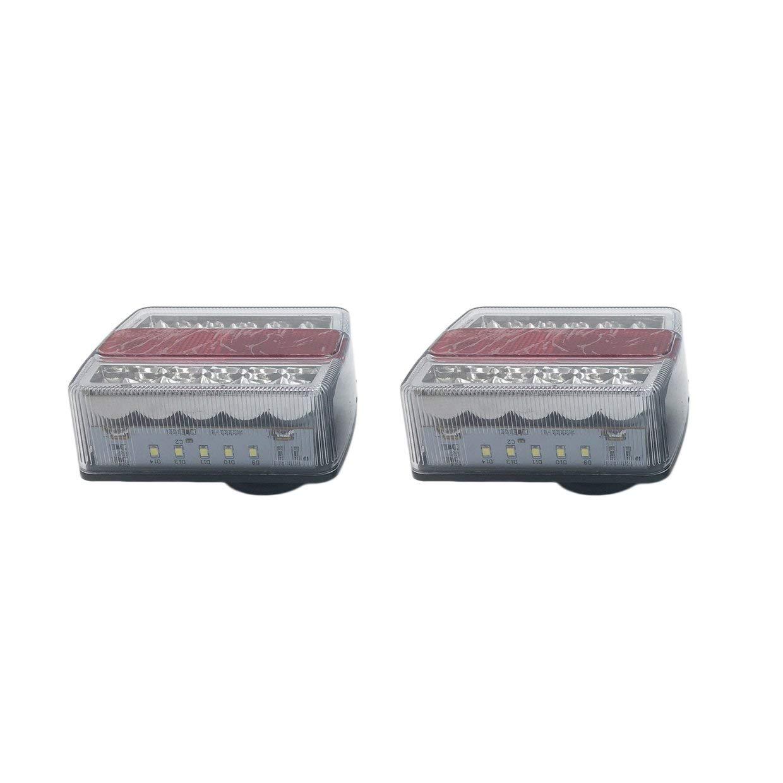 MXECO 12V impermeabile e sommergibile Left /& LED destro del rimorchio luci di una coppia di Energy Efficient ambra e rosso luci a LED