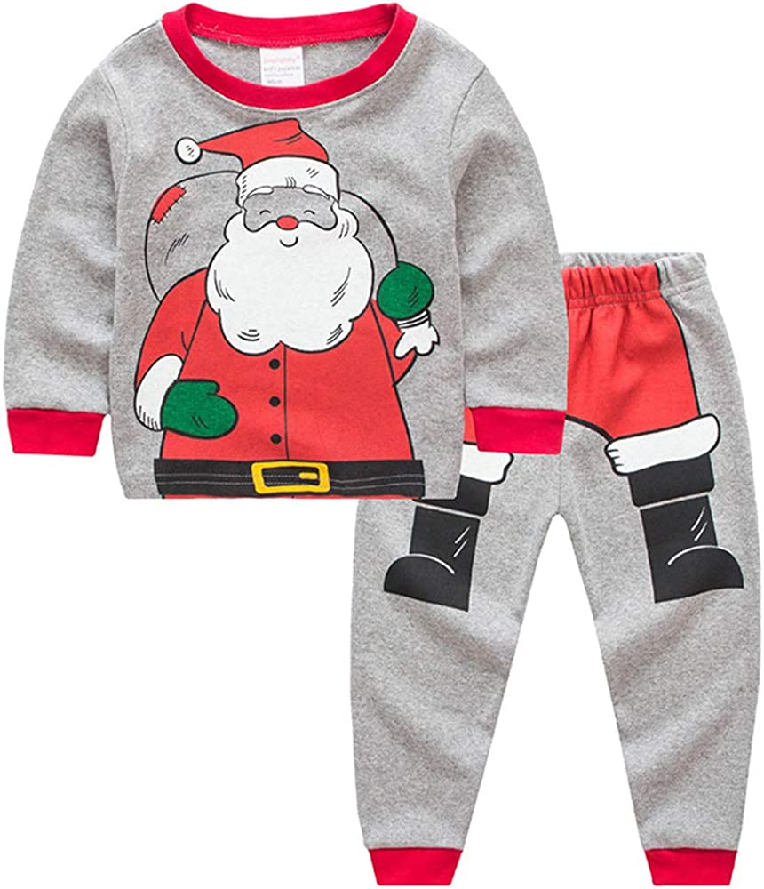 "Sampheya /""Dinosaur/"" Girl Boys Christmas Pajamas Sets Kids PJS Sleepwear 100/% Cotton"