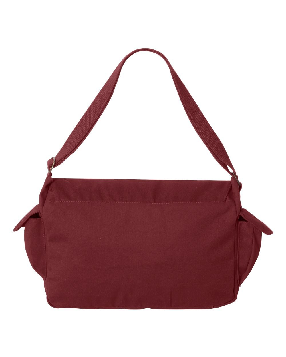 Tenacitee Born in 1956 - Aged Like a Fine Wine Maroon Brushed Canvas Messenger Bag by Tenacitee (Image #3)