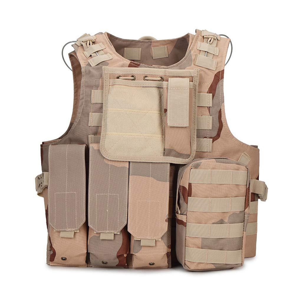 LXY&AI Armee-Fan-Taktische Weste - Outdoor-Training Uniform Wasserdichte Weste - Abnehmbare Tasche Jungle Field Vest - Grün