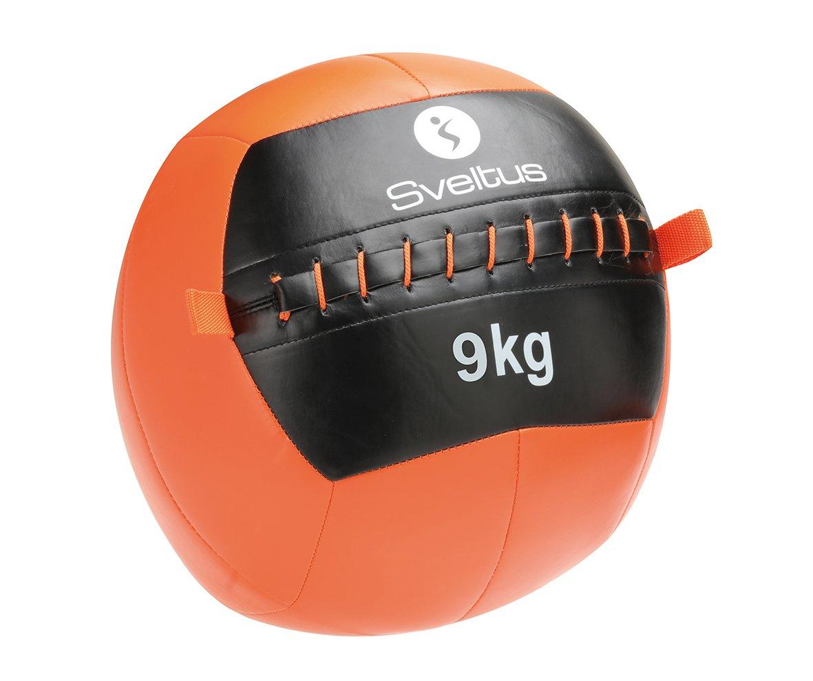 Sveltus Balón Medicinal Wall con un diámetro de 35 cm. y un Peso de 2 kg. - Balón Medicinal Unisex en Color Naranja y Negro SVEL6|#Sveltus 4902