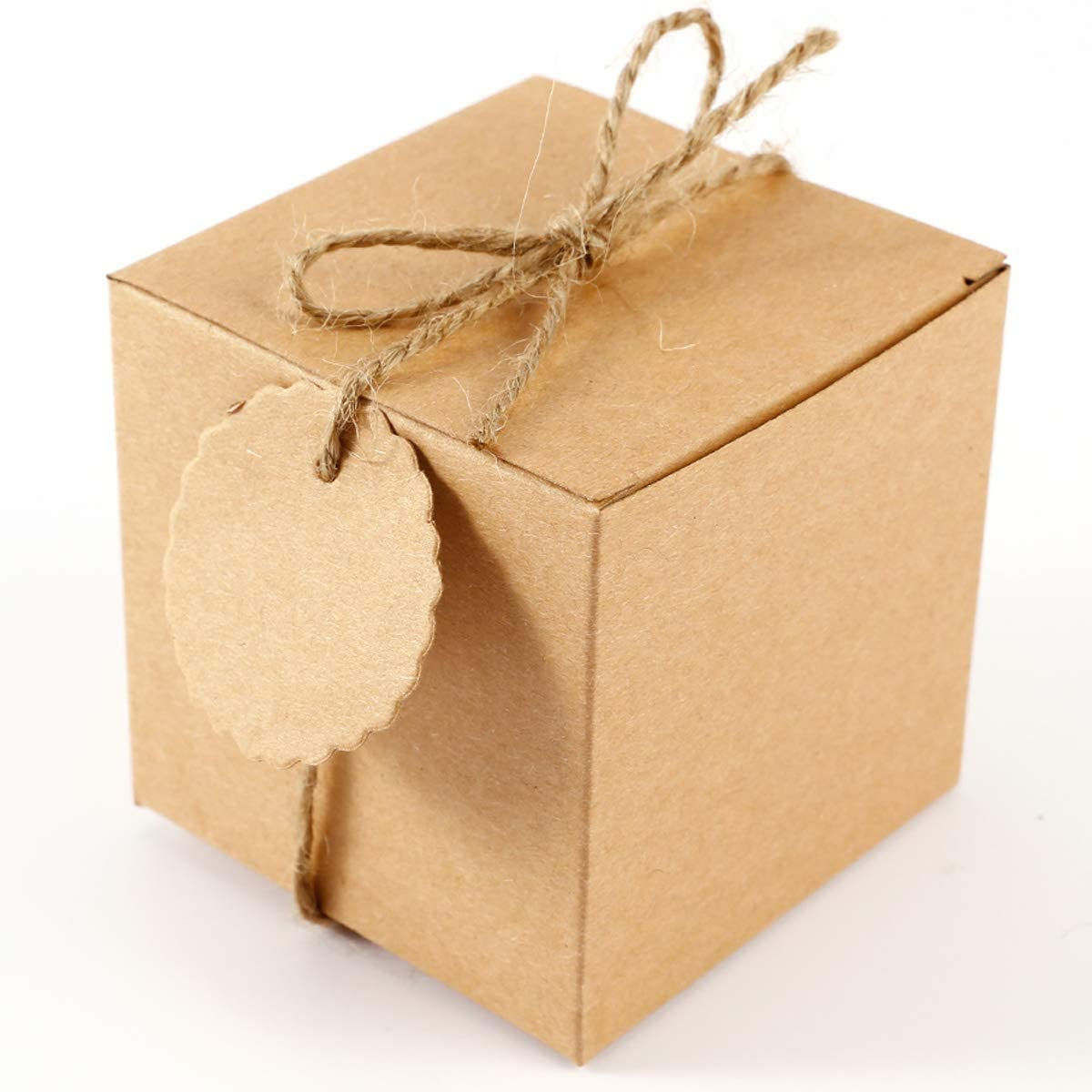 100 x Hochzeit Gastgeschenk Bonboniere Geschenkbox /& Geschenkanhänger Gift Tags