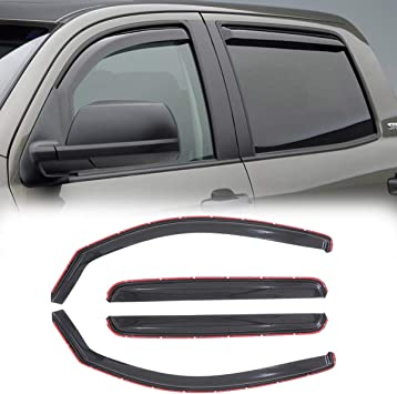 Auto Ventshade 94056 Original Ventvisor Side Window Deflector Dark Smoke 4-Piece Set for 2005-2015 Toyota Tacoma Double Cab