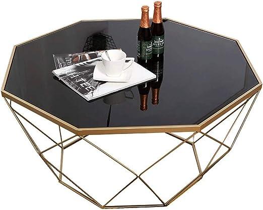WMDXTM Moderna Minimalista Negro de Cristal Templado Mesa de café ...