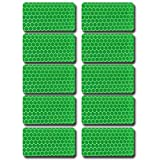 Rectangular shape Waterproof Self-Adhesive Tape-Reflective Tape For Trucks Trailers Car Park Traffic Warning Caution Conspicuity Tape Reflective Tape 10 packs Green
