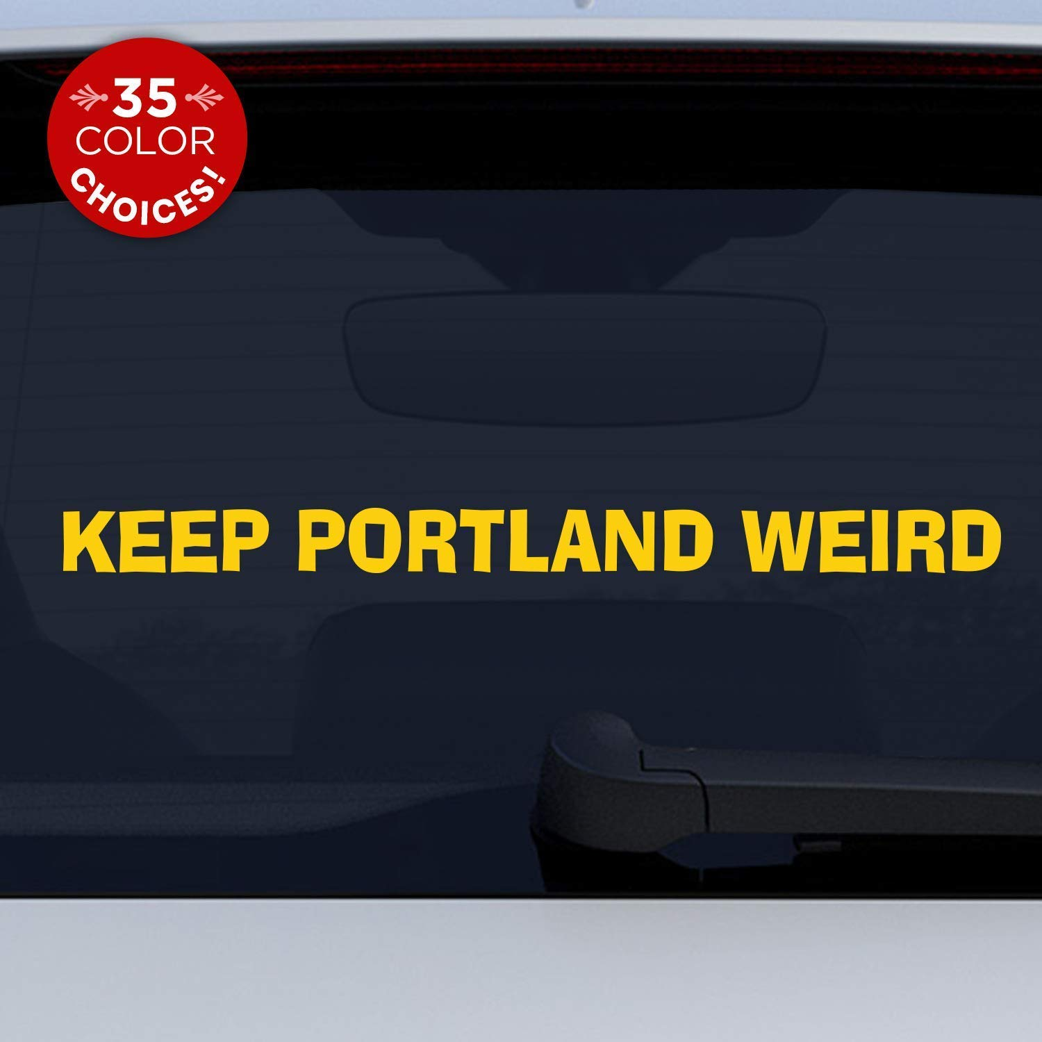 Keep portland weird vinyl decal for car computer walls show your oregon weirdness with this iconic sticker handmade