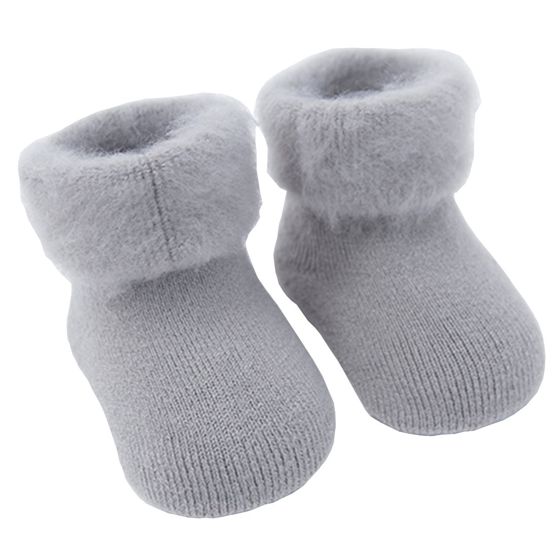 Everstars for baby socks [High-end Soft Material][Delicate Workmanship][Sweat Update][Soft Cotton Fabric] [Fun & Cute] Antibacterial Deodorant socks for babies (Gray, 0~6 month)