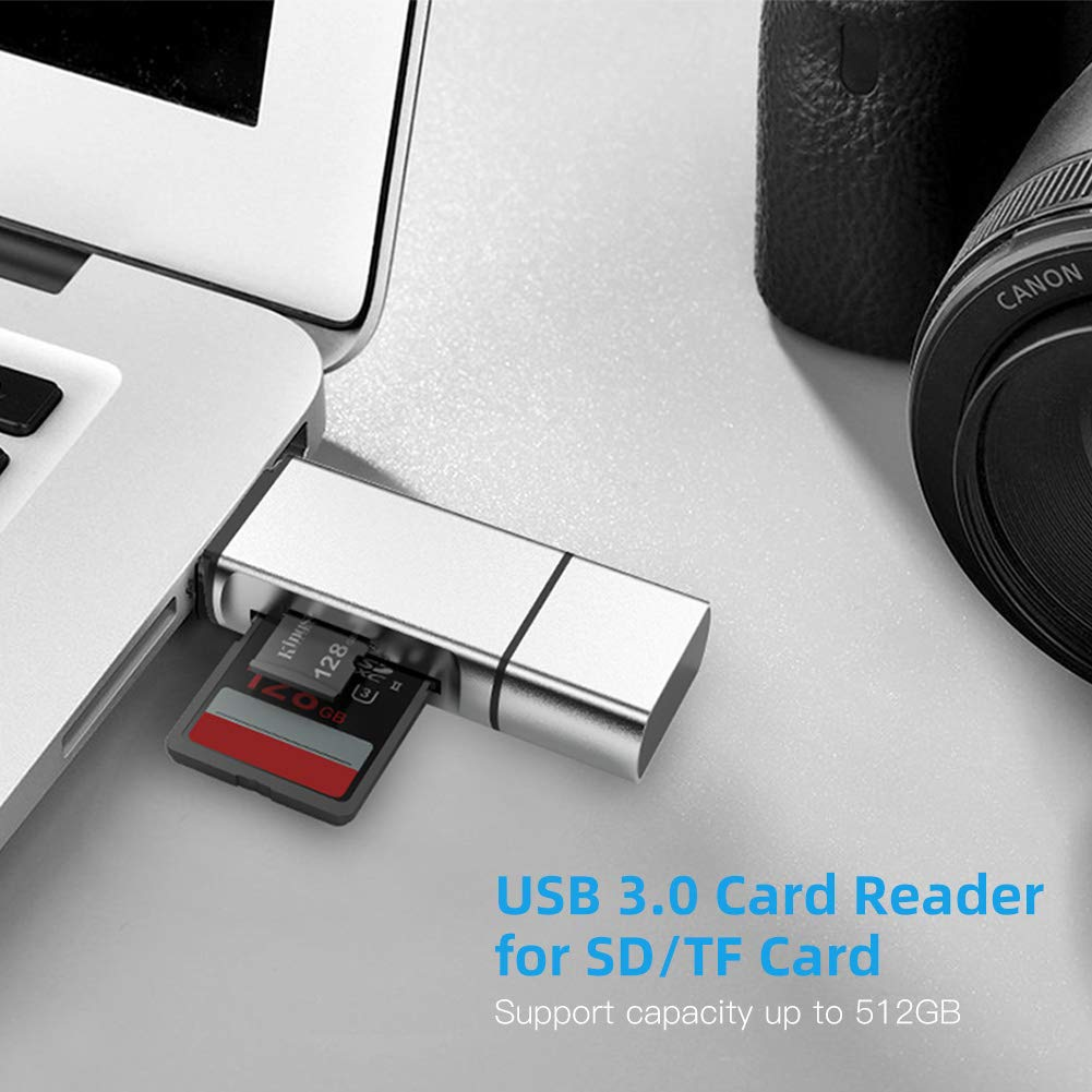 RS-MMC MMC Micro SDXC SD Card Reader Micro SD SDHC 3 in 1 USB Type C Memory Card Adapter for SDXC SD Micro SDHC Card and UHS-I Card
