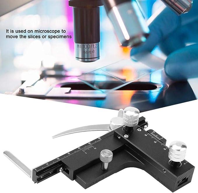 KEYREN Mikroskop-beweglicher Tisch professioneller anbringbarer mechanischer X-Y-beweglicher Tisch-Messschieber mit Skala f/ür Mikroskop