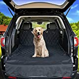 Pet Cargo Liner By Smirly: Dog Seat Cover For Cars, Trucks And SUVs, Waterproof And Machine Washable Polyester, Adjustable Backseat Straps With Bumper Flap Protector - Black