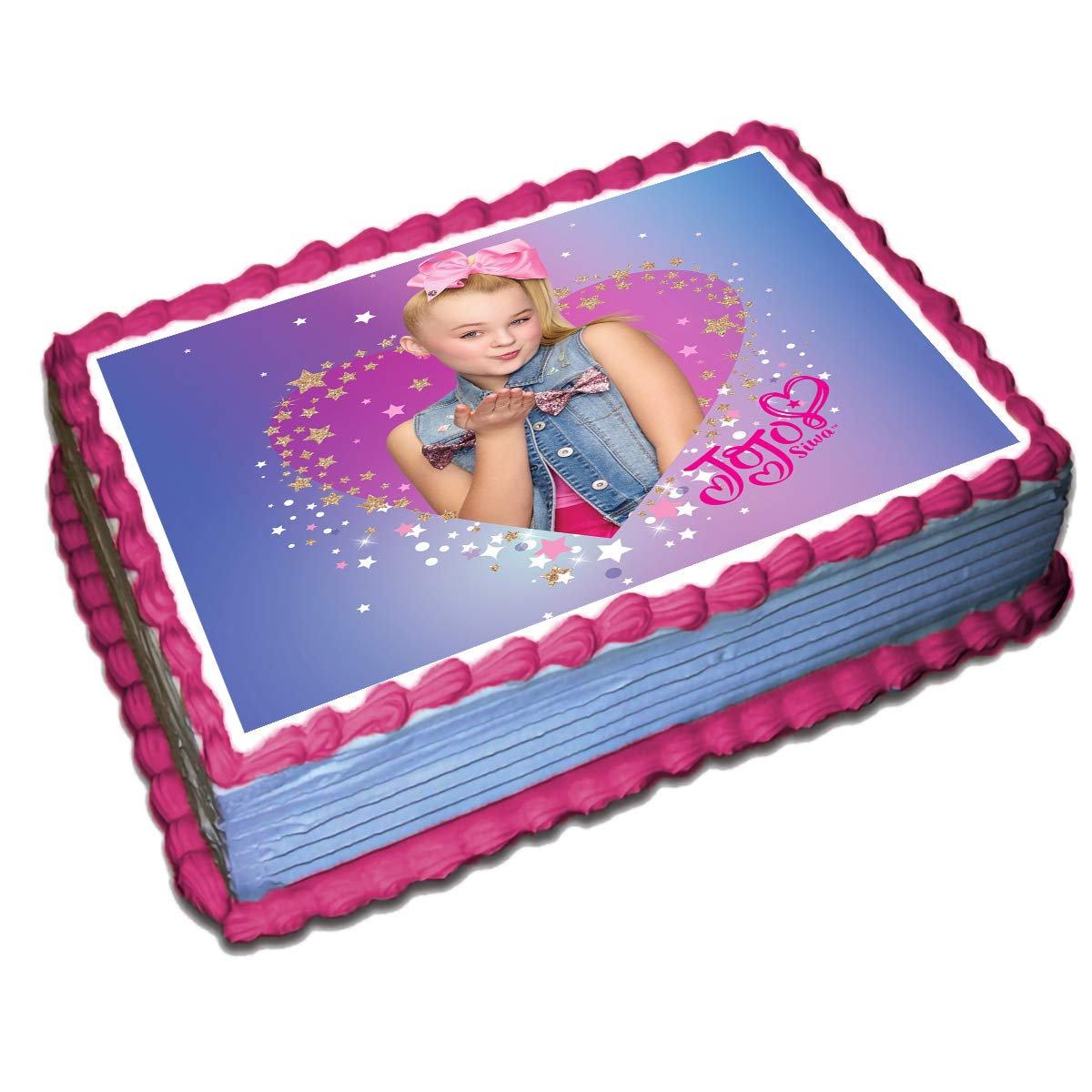 Jojo Siwa Cake Toppers Icing Sugar Paper 1/4 8.5 x 11.5 Inches Sheet Edible Frosting Photo Birthday Cake Topper Fondant Transfer (Best Quality Printing)