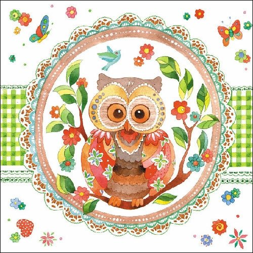 4 Paper Napkins for Decoupage - 3-ply, 33 x 33cm - Signed Owl Tigers on the Loose