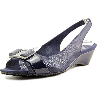 37432de98af Amazon.com | Anne Klein Women's Harlee Slingback US | Heeled Sandals