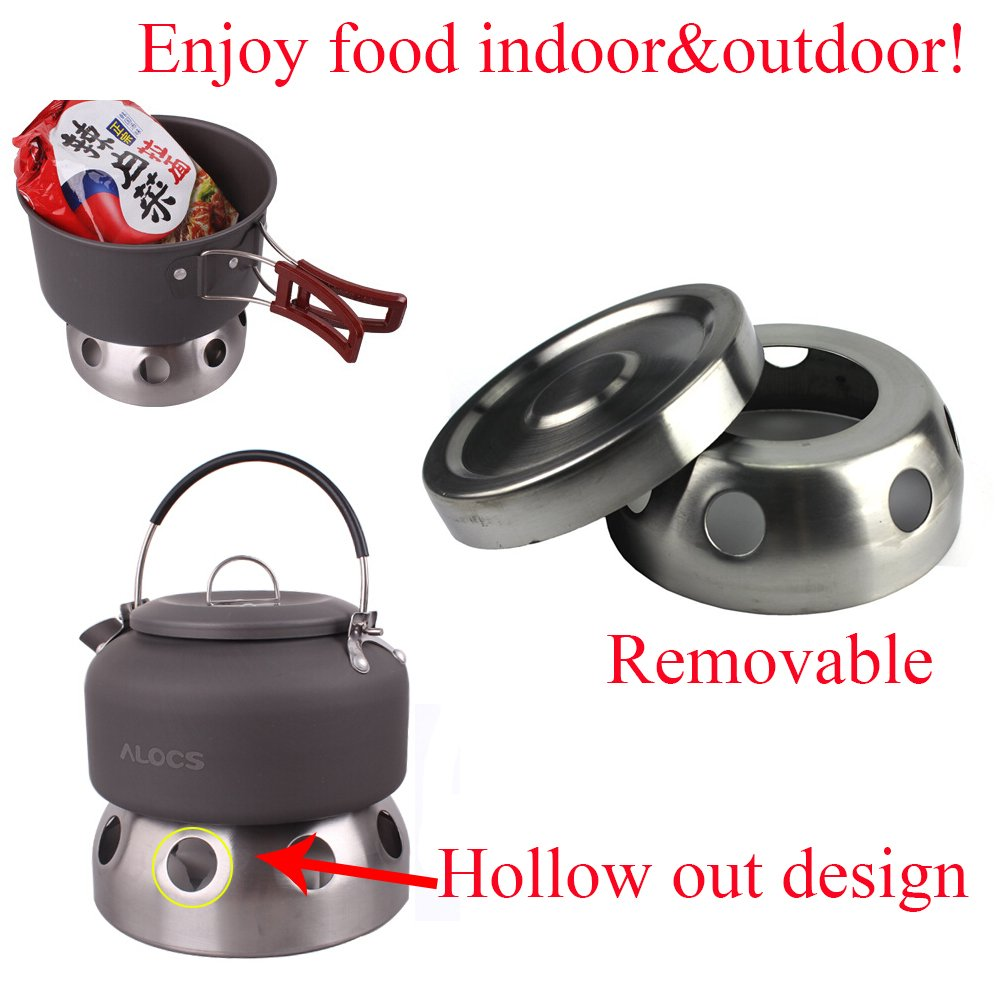 Amazon.com : Ezyoutdoor Spirit Stove Alcohol Burners Spirit Burner Stove Furnace Trekking Cookset with Stand for Camping Picnic BBQ Bivouac Kitchen ...