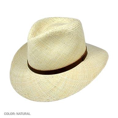 a5c4150db8c5 Jaxon MJ Panama Straw Outback Hat at Amazon Men's Clothing store: