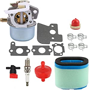 Butom 698055 Carburetor + 697029 690610 Air Filter Tune Up Kit for 690152 694203 121602 121607 121612 Engines