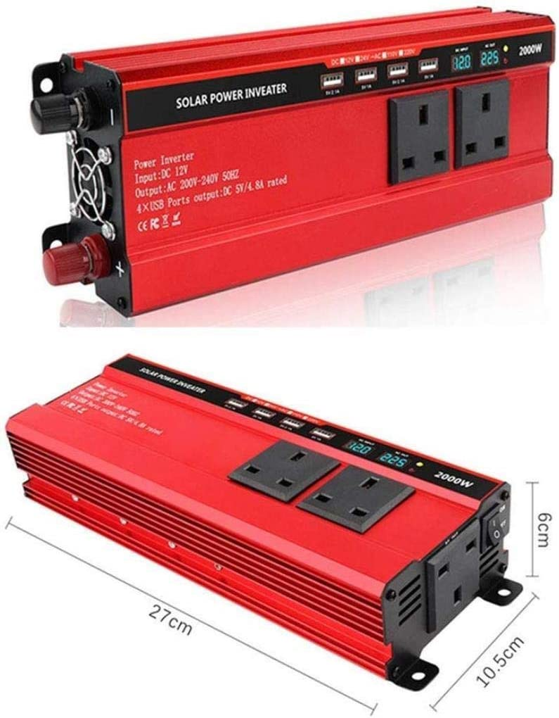 DJNBQ 1000~2000W (Pico) Power Inverter DC 12 / 24V a 240V AC ...