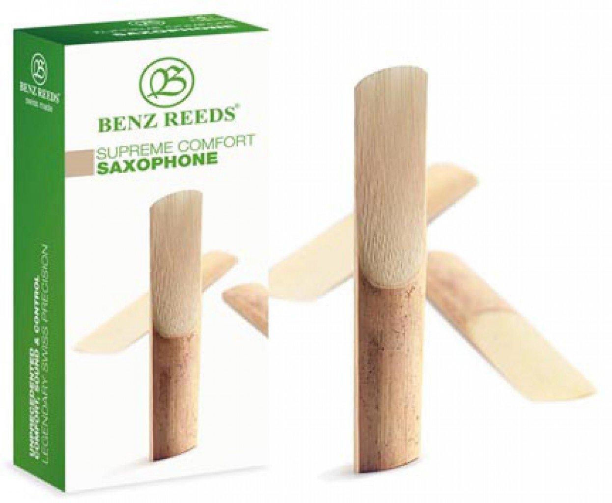 Benz Reeds BSC5ST20 Tenor Saxophone ''Comfort'' Reeds - 2.0 Strength - Pack of 5