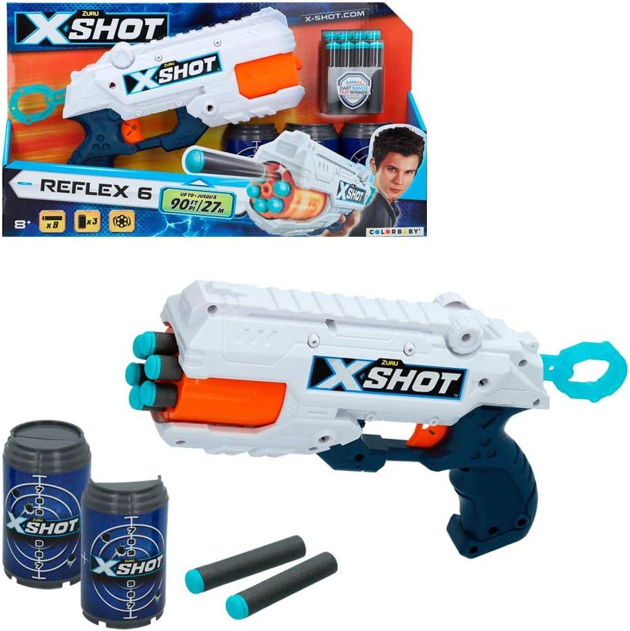 X-Shot - Pistola Reflex X-Shot + 3 botes (44768)