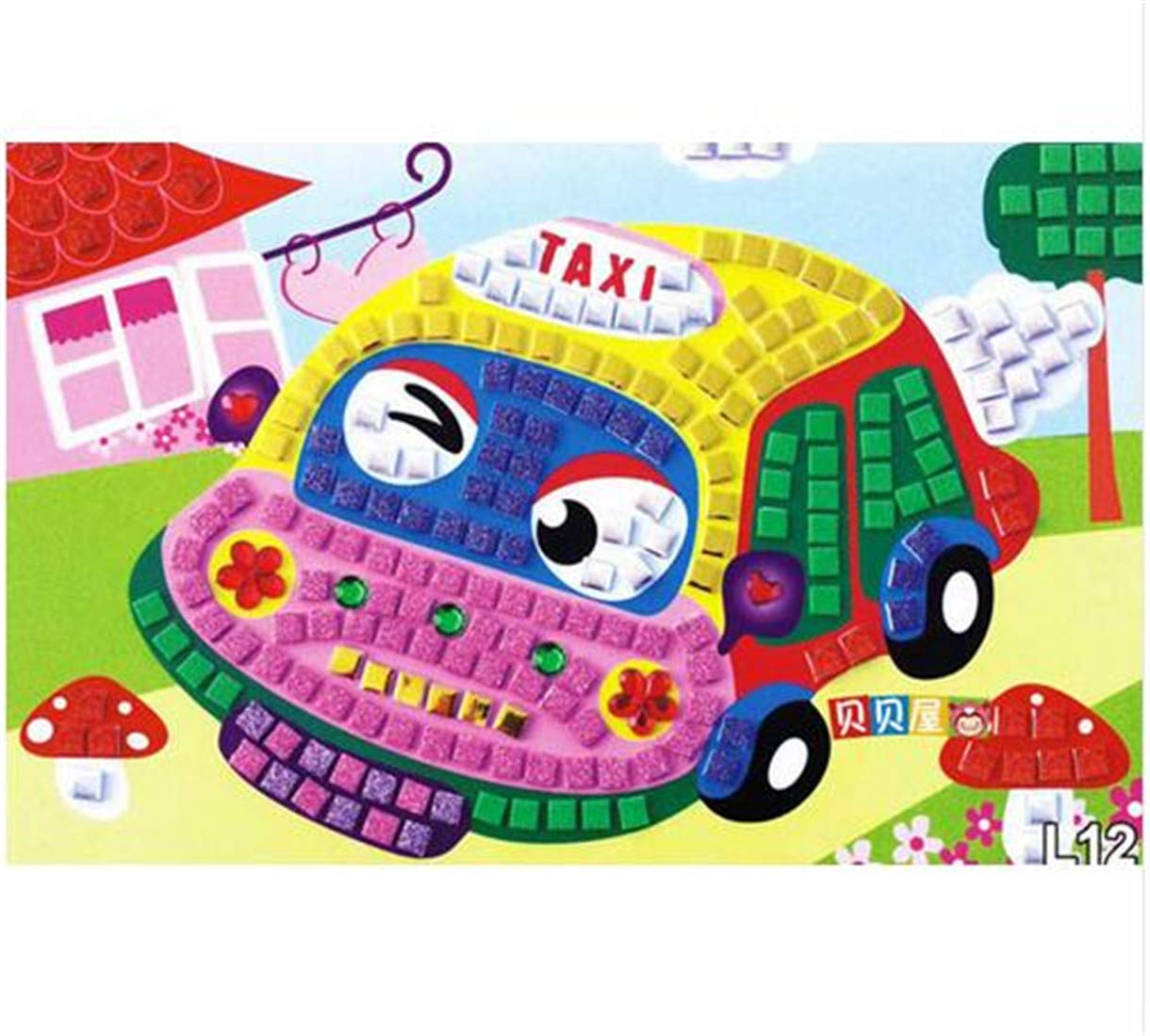 3D DIY Foam Mosaic Crystal Stickers Art EVA Children Puzzle Educational Toys DT04