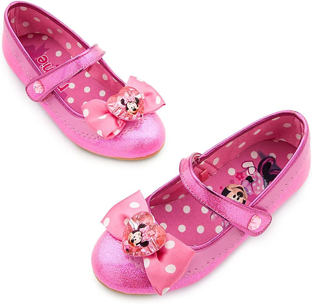Disney Store Minnie Mouse Girls Toddler Flat Dress Sandals Shoes Size 6 Pink NWT