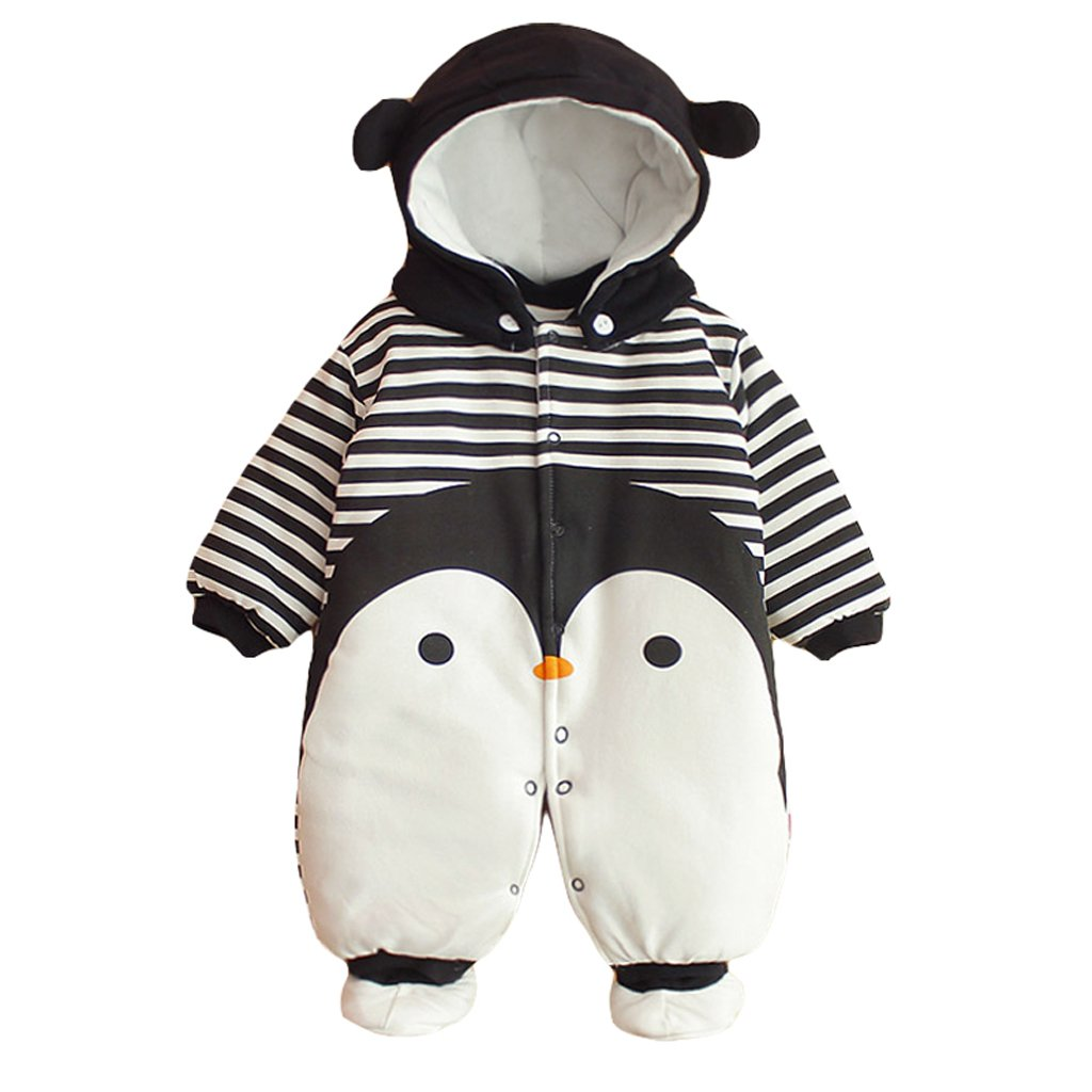 Baby Clothes Boys Girls Hooded Romper Cotton Thicken Jumpsuit Outwear Cute Outfits Vine 3 Months Vine Trading Co. Ltd B161026TZ07137V