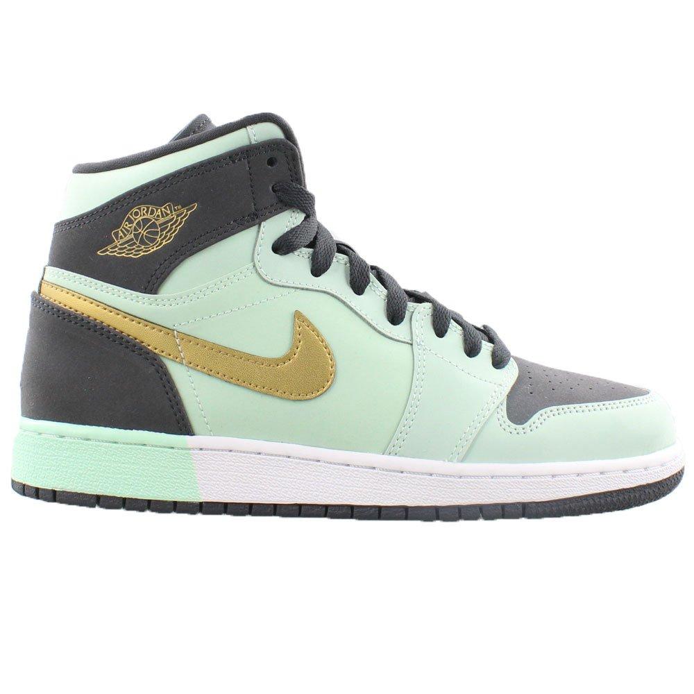 da0b9d7203938c Galleon - NIKE AIR Jordan 1 Retro HIGH GG Girls Basketball-Shoes 332148-300 7Y  - Mint Foam Metallic Gold-Anthracite-White