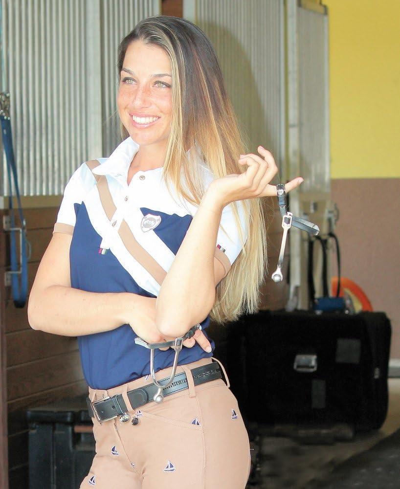 Berry//Navy, 1X Equine Couture Ladies Jillian Polo Shirt