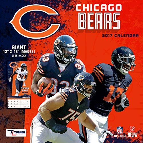 Turner Licensing Sport 2017 Chicago Bears Team Wall Calendar, 12