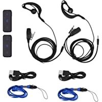 2PCS Mini Walkie Talkie with Earpiece 16 2-Way Radio Transceiver & Earpiece Headset USB Cable 400-470MHz