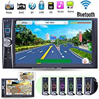 7 Double 2 Din In-Dash HD Car Radio MP5 Bluetooth FM Radio Multimedia Player with Rear View Camera