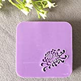 2016 natural handmade acrylic soap seal stamp mold chapter mini diy Chinese patterns organic glass 3X3cm