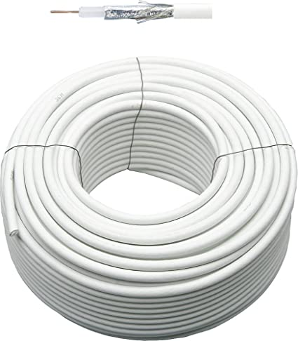 Cable coaxial 7,0 mm, color blanco, ...