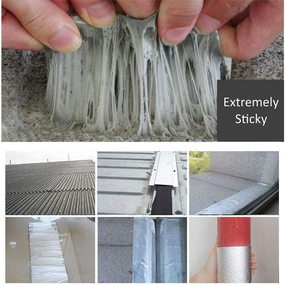 para goteras sellador de cinta de butilo cinta sellante Sellador de techo a prueba de agua para fugas 1.2mm*5cm*5m Potente cinta de reparaci/ón m/ágica: repare cualquier fuga y grieta
