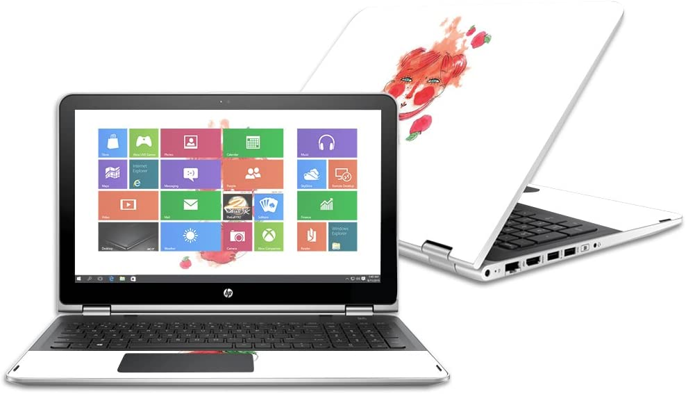 2016 MightySkins Skin Compatible with HP Pavilion x360 15.6 wrap Cover Sticker Skins October Apple