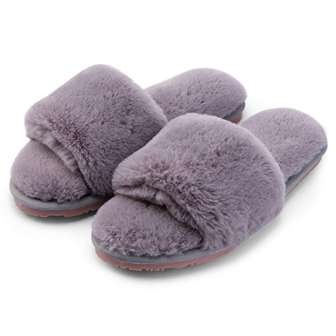 Huicai Womens indoor slippers open toe put-on woman shoes footwear