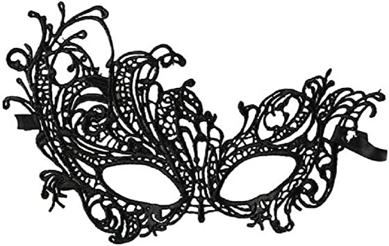 Halloween Party Mask Ladies Lace Elegant Masquerade Ball Carnival Fancy Dress