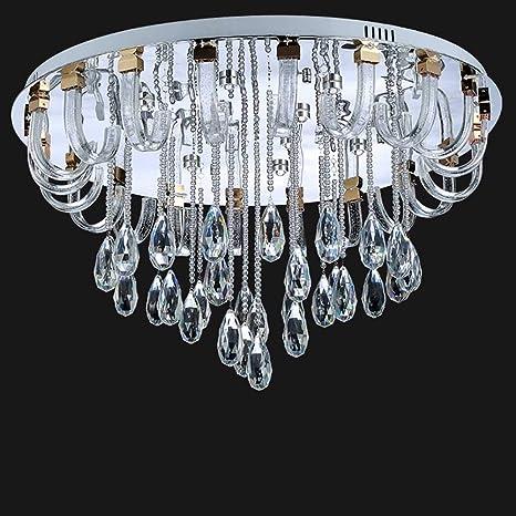 ZRSZ Moderno K9 Crystal Raindrop Chandelier Lighting Flush ...