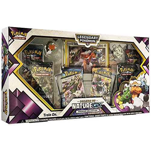 2 Card Collector Set (Pokemon TCG: Forces of Nature GX Premium Collection | Collectible Trading Card Set | Features 2 Ultra Rare Foil Promos of Tornadus-GX and Thundurus-GX, 6 Booster Packs, Collectors Pin, Coin & More)
